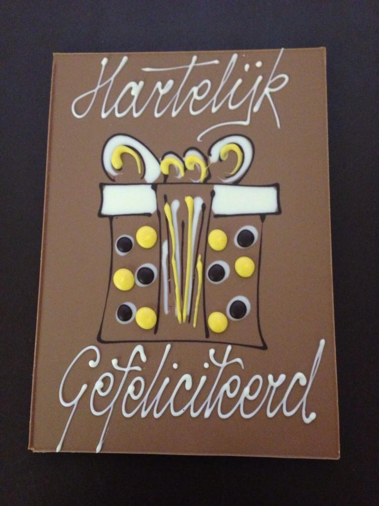 hartelijk gefeliciteerd chocolade