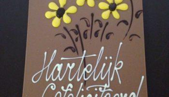 gefeliciteerd chocola